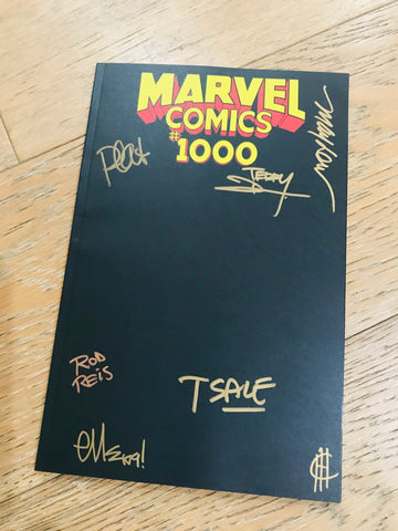 SIGNED!MARVEL COMICS #1000 BLACK BLANK SKETCH COVER ZMX COMICS EXCLUSIVE VARIANT纵漫线独家
