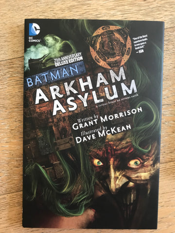 Batman Arkham Asylum 25th Anniversary Deluxe Edition Signed 蝙蝠侠疯人院25周年纪念 签名硬皮