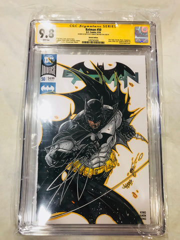 Batman #50 Batman Sketch Signed by Jonboy Meyers CGC 9.8