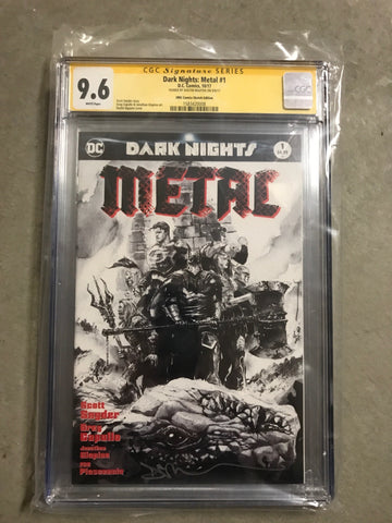 CGC 9.6 DARK NIGHTS METAL #1 ZMX COMICS DUSTIN NGUYEN EXCLUSIVE B&W VARIANT (SIGNED)