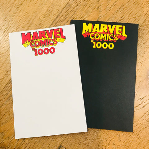 MARVEL COMICS #1000 SKETCH COVER  BLACK AND WHITE BLANK COVER SET纵漫线独家
