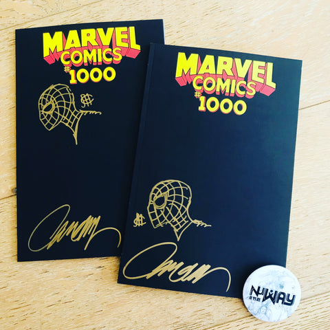 SIGNED & SKETCHED!MARVEL COMICS #1000 BLACK BLANK SKETCH COVER ZMX COMICS EXCLUSIVE VARIANT纵漫线独家