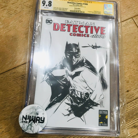 Detective Comics #1000 Blank Cover CGC 9.8 Signed and Sketched by Jae Lee