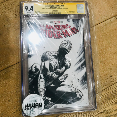 Amazing Spider-man #800 Blank Cover CGC 9.4 Signed and Sketched by Ryan Benjamin