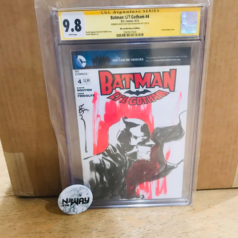 Batman Li'l Gotham Blank Cover CGC 9.8 Signed and Sketched by Dustin Nguyen