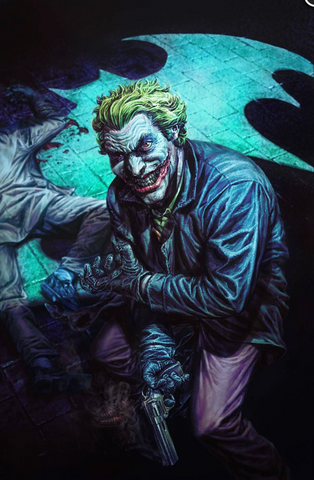 Joker 80th-Anniversary 100-Page Super Spectacular #1 2000s variant cover Lee Bermejo 小丑80周年预订变体