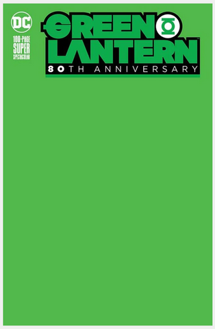 GREEN LANTERN 80th ANNIVERSARY 100-PAGE SUPER SPECTACULAR Blank Cove变体