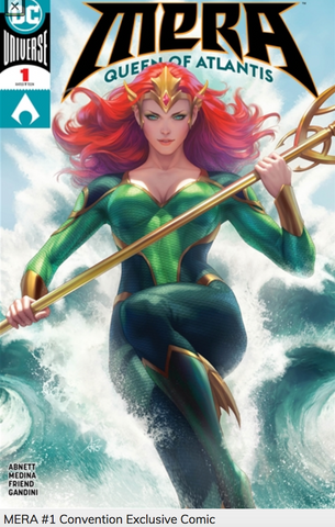 "ECCC 2018 EXCLUSIVE MERA#1 VARIANT BY STANLEY ""ARTGERM"" LAU"