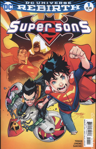NEW SUPER SONS #1 DC Universe Rebirth EXCLUSIVE Silver-Foil VARIANT