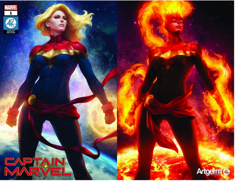 Captain Marvel #1 Artgerm Collectibles Exclusive Variant Set