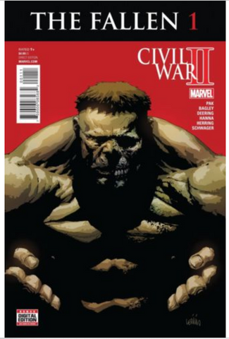 Civil War 2 The Fallen NM Marvel Spider-Man Captain America Iron Man Hulk