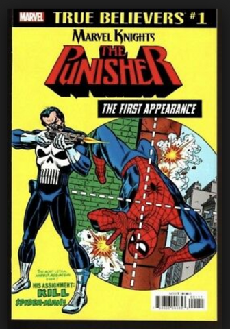 True Believers #1 Marvel Knights The Punisher The First Appearance惩罚者