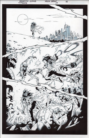 Mick Gray Original Art Titan #17 Page 05