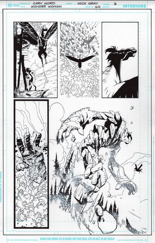 Mick Gray Original Art Wonder Woman #66 Page 03