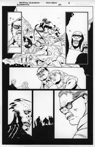 Mick Gray Original Art Superman #24 Page 05