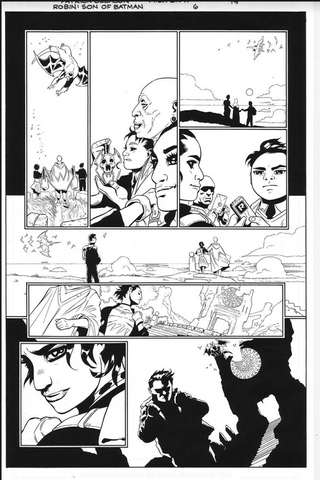 Mick Gray Original Art Robin: Son of Batman #06 Page 19