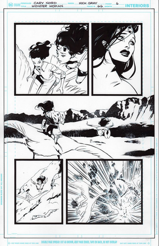 Mick Gray Original Art Wonder Woman #66 Page 06