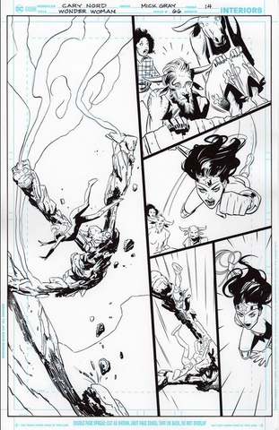 Mick Gray Original Art Wonder Woman #66 Page 14