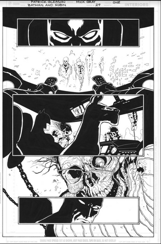 Mick Gray Original Art Batman and Robin #29 Page 01