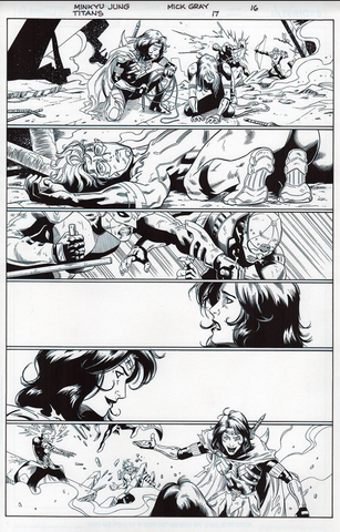Mick Gray Original Art Titan #17 page 16