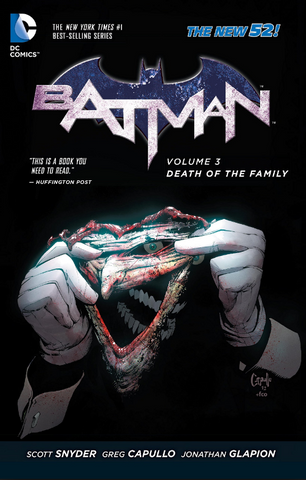 Batman Vol 3 Death of the Family  Paperback 蝙蝠侠 3卷 家族之死 软皮