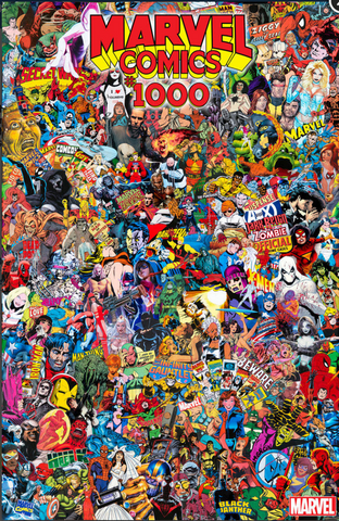 MARVEL COMICS #1000 GARCIN COLLAGE VARIANT 漫威1000期官方变体