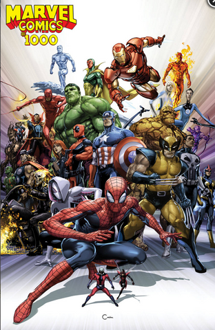 MARVEL COMICS #1000 CRAIN LIMITED RATIO 1:50 VARIANT 漫威1000期官方比例变体