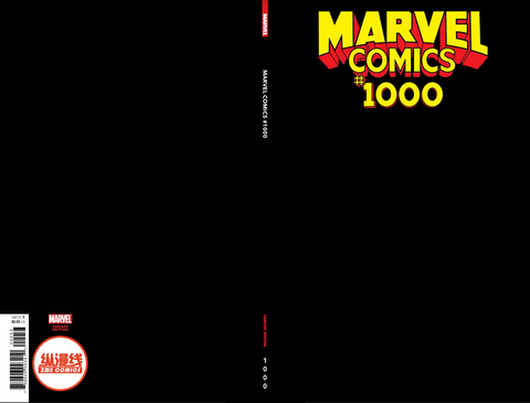 MARVEL COMICS #1000 BLACK BLANK SKETCH COVER ZMX COMICS EXCLUSIVE VARIANT纵漫线独家
