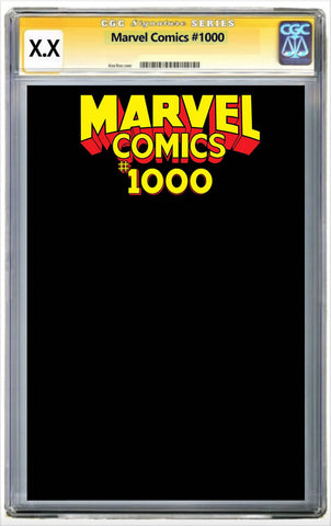 MARVEL COMICS #1000 BLACK BLANK SKETCH COVER ZMX COMICS EXCLUSIVE VARIANT CGC预定 Pre Order