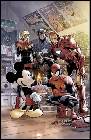 Marvel Comics #1000 80 Mickey Mouse Ramos Variant Cover Disney D23 Expo 2019