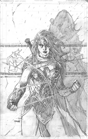 Wonder Woman #750 2010 Cover Jim Lee Pencil B&W DC COMICS