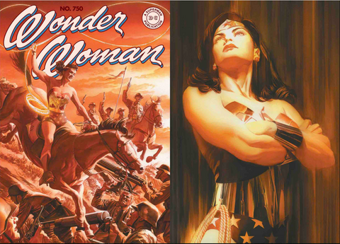 Wonder Woman #750 Alex Ross Variant Cover Set of 2 DC Comics