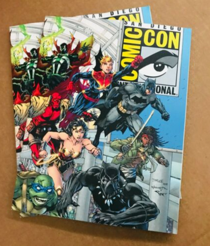 SDCC San Diego Comic Con 2019 50th anniversary Souvenir Book! Cover by Jim Lee!