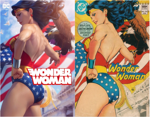 Wonder Woman #750 Artgerm Cover Set of 2 神奇女侠 750 刘大哥 双套装