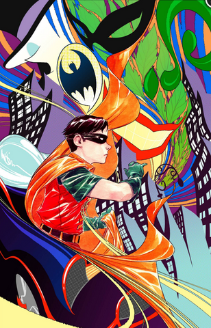 Robin 80th Anniversary 100-page Super Spectacular #1 1960S DUSTIN NGUYEN Variant Cover 变体