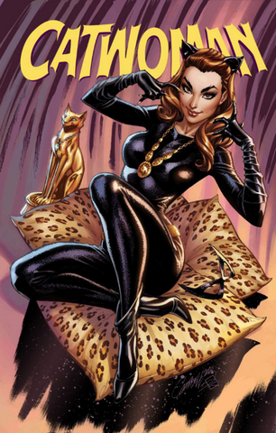 Catwoman 80th-Anniversary 100-Page Super Spectacular #1 1960s variant cover by J. SCOTT CAMPBELL猫女80周年变体