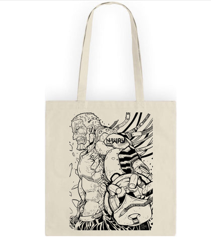Chowpai NuWay Ajax Tote Art by Naoto Tsushima Screen-print