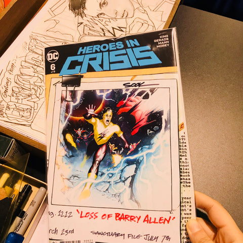 Heroes in Crisis #6 Variant Cover signed by Ryan Sook签名刊