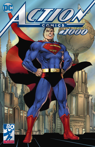DC Comics Action Comics #1000 Silver Foil Jim Lee Variant 2018 SDCC COMIC CON Exclusive