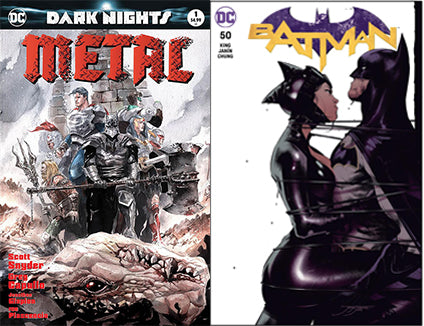 ZMX COMICS EXCLUSIVE SET OF (DARK NIGHTS METAL #1 COLOR + BATMAN #50 JORGE JIMENEZ)