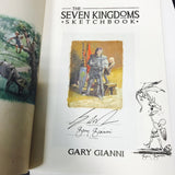 Seven Kingdoms Sketchbook signed by George Martin and Gary Gianni