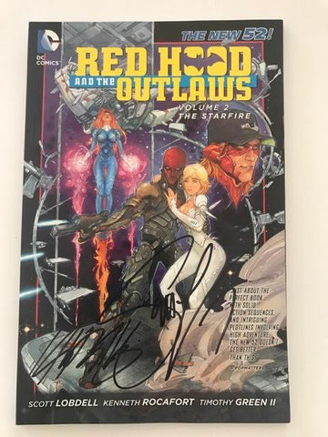 Red Hood and The Outlaws Vol 2 signed by Scott Lobdell and Kenneth Rocafort