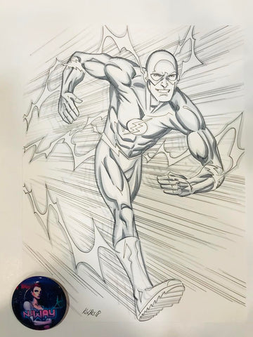 Wally West Commission by Scott Kolins