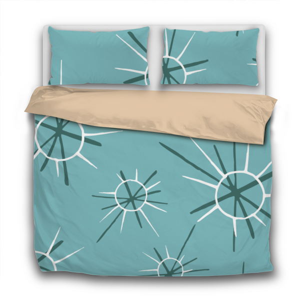 Duvet Set - 3pc Cover + Pillowcases - Fifties Inspired IF7