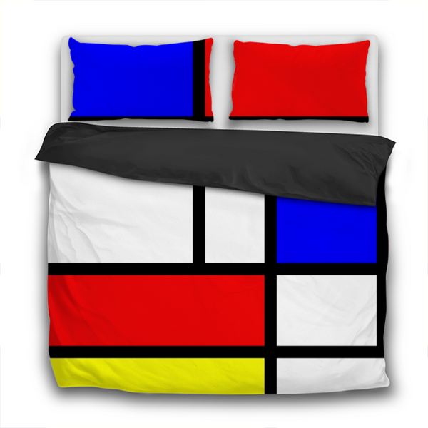 Duvet Set - 3pc Cover + Pillowcases - Mondrian Landscape