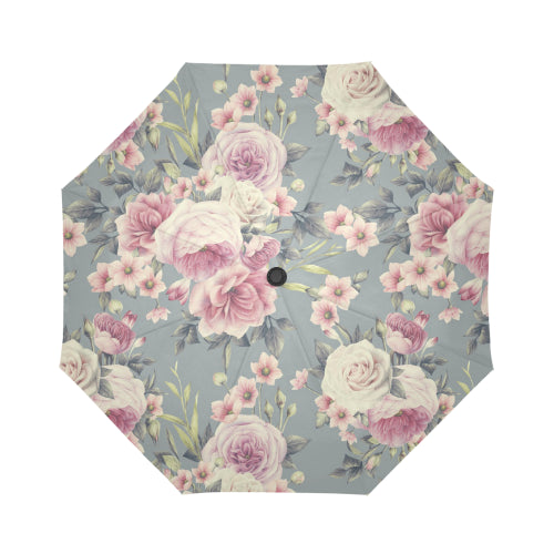 Antique Rose Automatic Foldable Umbrella