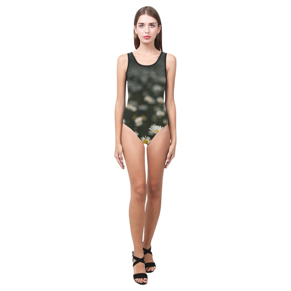 Daisy One Piece Tank Womens Swimsuit or Leotard