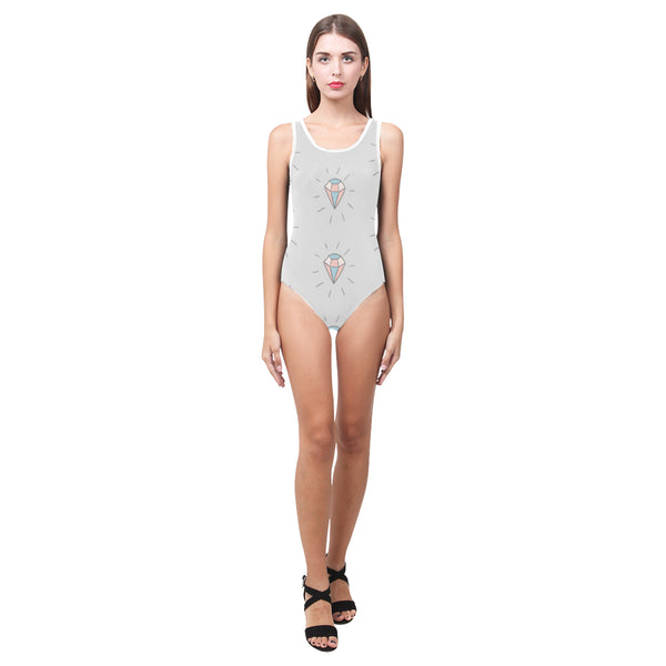GreyJewels One Piece Tank Womens Swimsuit or Leotard