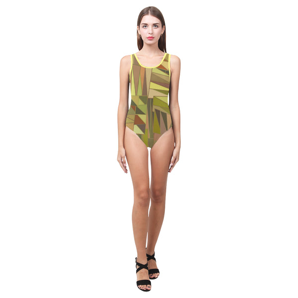 Earthtone One Piece Tank Womens Swimsuit or Leotard