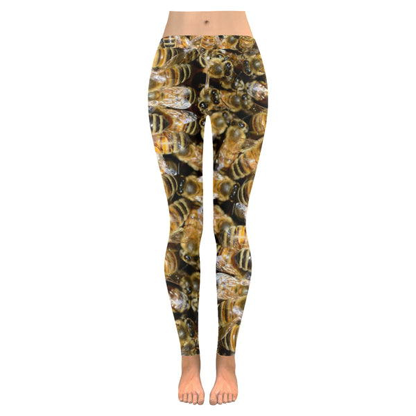 Bees All-Over Low Rise Leggings